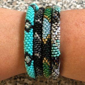 Beaded bracelets set of 4